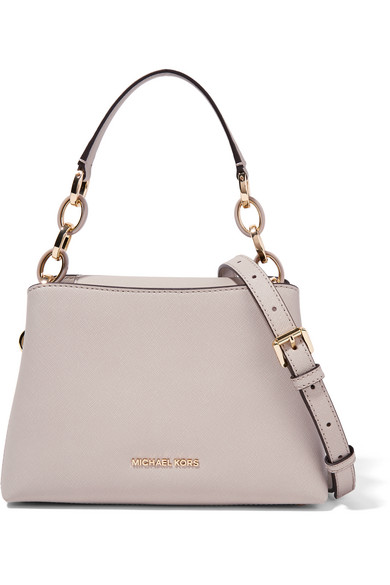 Portia small textured leather shoulder bag