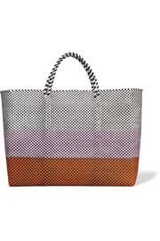 Simple woven raffia-effect tote