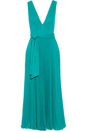 Ryan pleated crepon dress