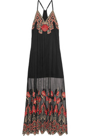Sally embroidered tulle maxi dress