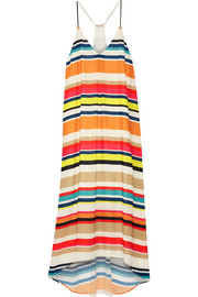 Cortes striped georgette midi dress