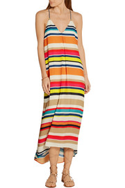 Alice + Olivia Cortes striped georgette midi dress