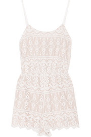 Cassia lace playsuit