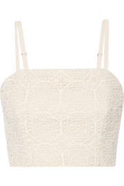 Alice + Olivia Brentley crocheted cotton top