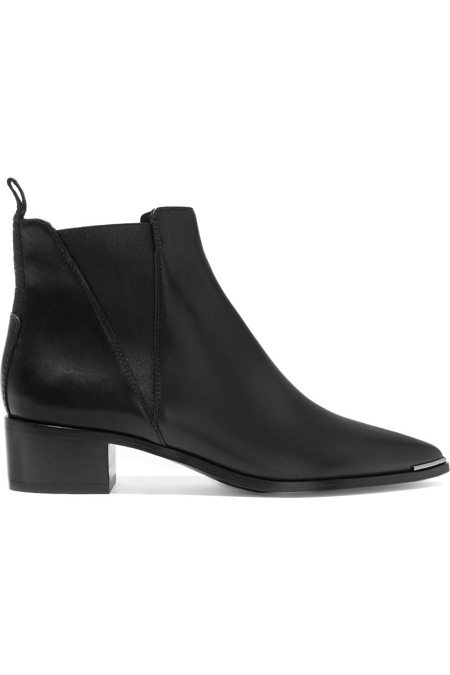 Acne Studios Jensen Leather Ankle Boots, Black, Women's US Size: 5.5, Size: 36