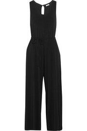 Cropped stretch-jersey jumpsuit