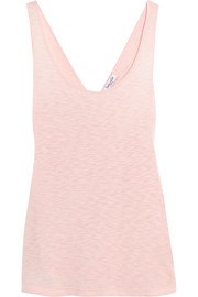 Crossover-back slub Supima cotton and Micro Modal-blend tank