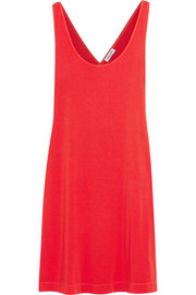 Crossover-back stretch-jersey mini dress