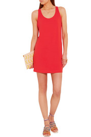 Splendid Crossover-back stretch-jersey mini dress