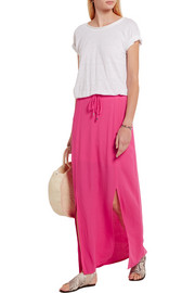 Splendid Crinkled-gauze maxi skirt