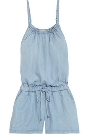 Tencel-chambray playsuit