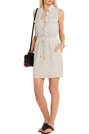 Marina striped woven shirt dress