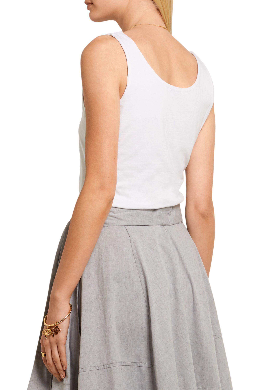 Splendid Tie-front cotton-jersey top
