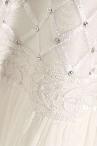 Temperley London Anastasia verzierte Robe aus Tüll und Seidenchiffon