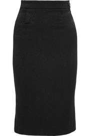 Stretch-cloqué pencil skirt