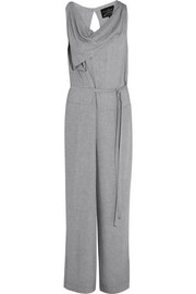 Twisted draped crepe jumpsuit