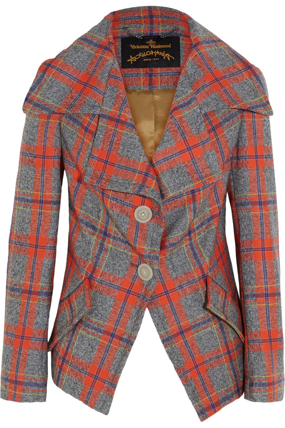 Propaganda Tartan Wool Jacket, Vivienne Westwood Anglomania, Red, Women's, Size: 38