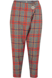 Vivienne Westwood Anglomania D.F. Flap cropped tartan wool tapered pants