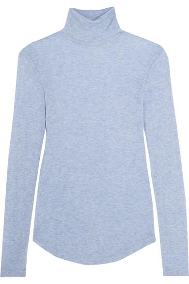 J.Crew - Tencel And Cashmere-blend Turtleneck Sweater - Light blue