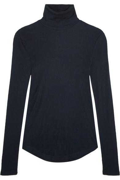 J.Crew - Tencel And Cashmere-blend Turtleneck Sweater - Navy