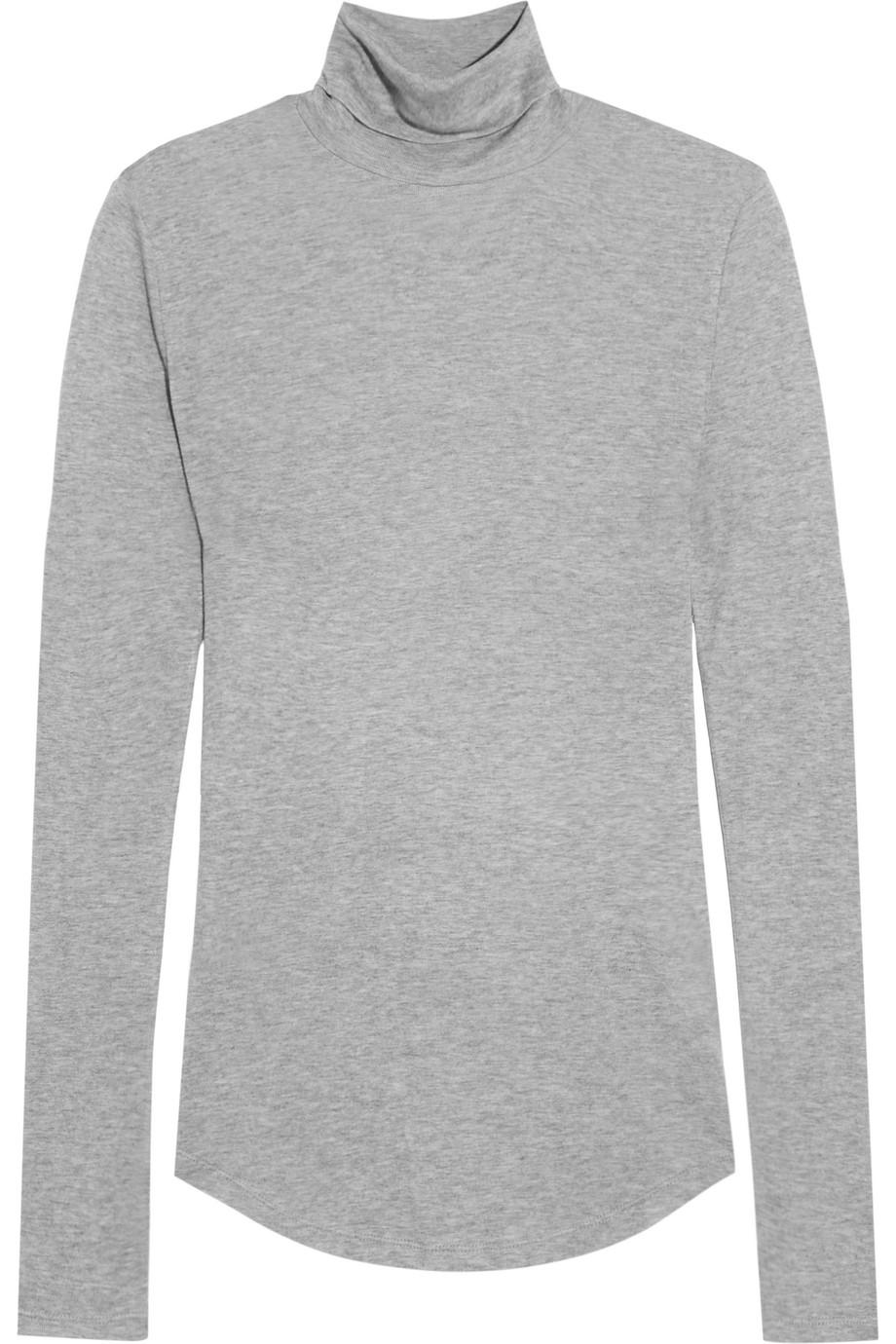 J.Crew Tencel and Cashmere-Blend Turtleneck Sweater, Gray, Women's, Size: XL