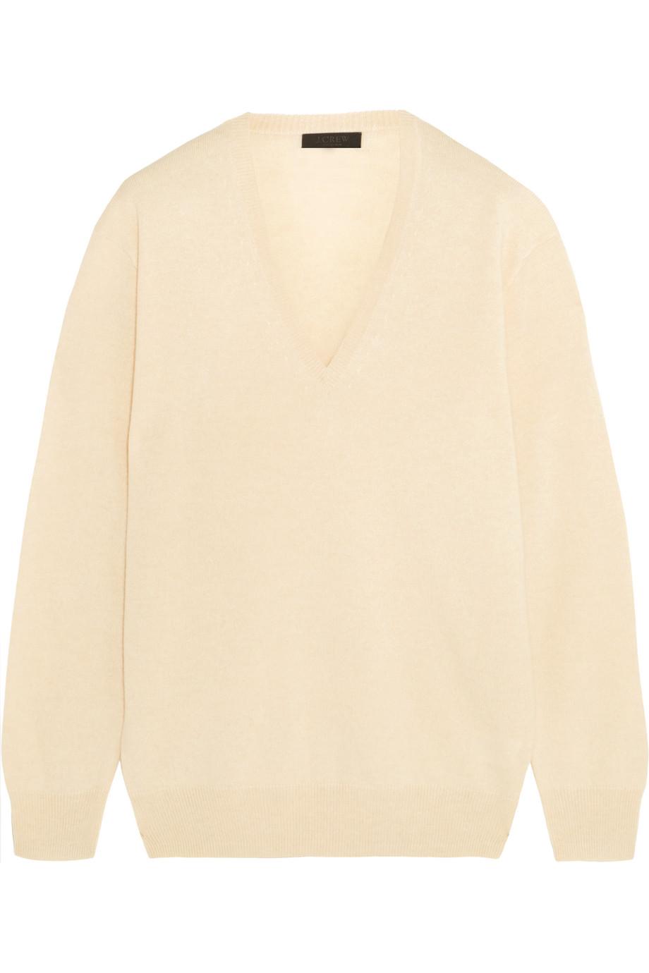 J.Crew Cashmere Sweater, Beige, Women's, Size: L