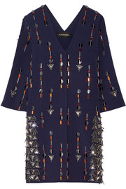 By Malene Birger Cesili embellished stretch-jersey mini dress