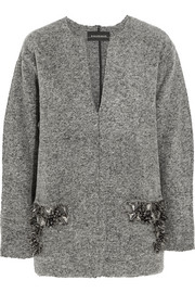 By Malene Birger Francoise embellished boiled wool-blend sweater