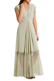 By Malene Birger Xoea fringed crochet-paneled silk crepe de chine maxi dress
