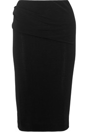 Eminnio ruched stretch-crepe pencil skirt