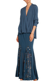 By Malene Birger Aria embellished georgette maxi skirt