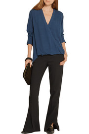 By Malene Birger Hailina wrap-effect crepe top