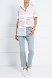 By Malene Birger Elaido paneled cotton-blend and embroidered organza shirt