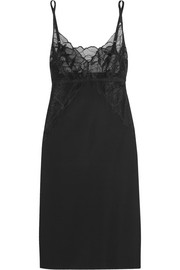 Love and Lust lace-paneled stretch chemise