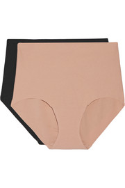 Commando Set of two high-rise stretch-cotton briefs
