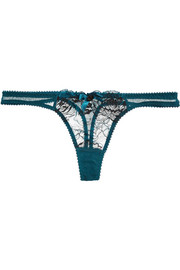 Dani Leavers lace and tulle thong