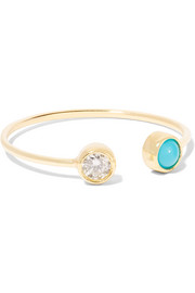 Jennifer Meyer 18-karat gold diamond and turquoise ring