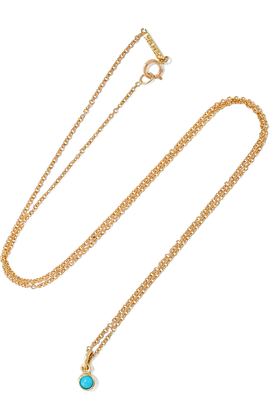 Jennifer Meyer 18-Karat Gold Turquoise Necklace, Gold/Turquoise, Women's
