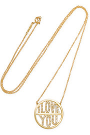 I Love You 18-karat gold diamond necklace
