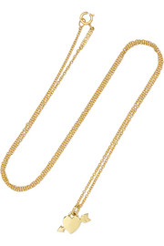 Jennifer Meyer Shot Through The Heart 18-karat gold necklace