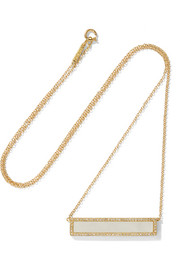 18-karat gold mother-of-pearl and diamond necklace