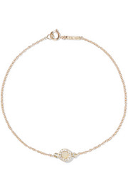 18-karat gold, diamond and mother-of-pearl bracelet