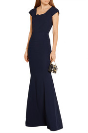 Roland Mouret Sitobion paneled stretch-crepe gown