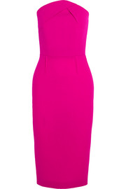 Roland Mouret Electra strapless wool-crepe dress