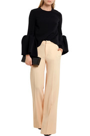 Lucanas wool-crepe wide-leg pants