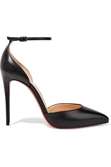 christian louboutin female christian louboutin uptown 100 leather pumps black