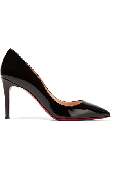 christian louboutin female 188971 christian louboutin pigalle 85 patentleather pumps black