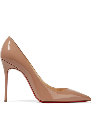 christian louboutin female christian louboutin decollete 554 100 patentleather pumps beige