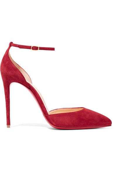 christian louboutin miss clichy 140mm suede platform pumps red; 705064_in_pp
