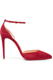 Uptown 100 suede pumps